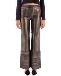 Rosetta Getty - Metallic Striped Pants - Lyst
