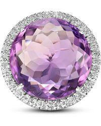Sanjay Kasliwal - Amethyst Diamond Ring - Lyst