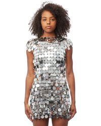 Paco Rabanne - Sequined Mini Dress - Lyst