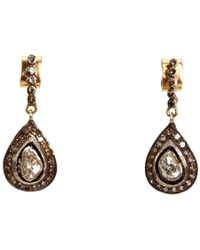 Kirat Young - Deco Tear Drop Earrings - Lyst