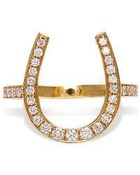Anita Ko   Horsebit Diamond Ring   Lyst