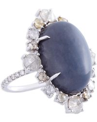 Nina Runsdorf | Grey Moonstone Ring | Lyst