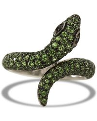 Sidney Garber | Garden Snake Diamond And Tsavorites Ring | Lyst