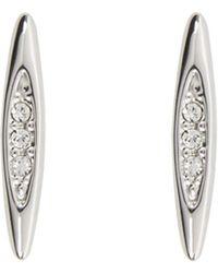 Karen Millen - Flow Crystal Stud Earrings - Km - Lyst