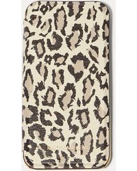 Karen Millen - Leopard Iphone Folio Case - Lyst