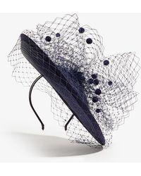 Karen Millen - Polkadot Tulle Hat - Lyst