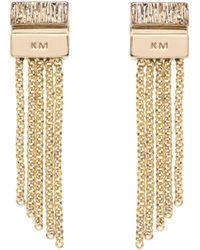 Karen Millen - Multi-chain Drop Earring - Lyst