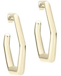Karen Millen - Hexa Link Hoop Earring - Lyst