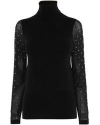 Karen Millen - Embellished Sleeve Jumper - Lyst