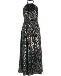 Karen Millen - Metallic Halterneck Dress - Lyst