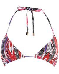 Karen Millen - Abstract Print Bikini Top - Lyst