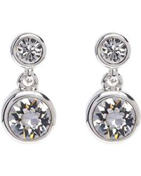 Karen Millen - Crystal Dot Earrings - Silver Colour - Lyst