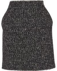 Karen Millen - Tweed A-line Skirt - Lyst