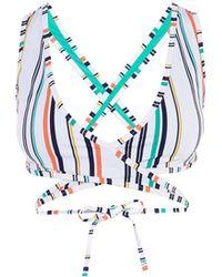 Karen Millen - Crossover Bikini Top - Lyst