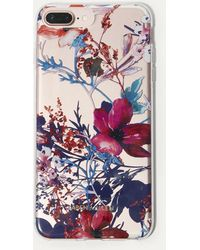 Karen Millen - Floral Print Iphone Plus Case - Lyst