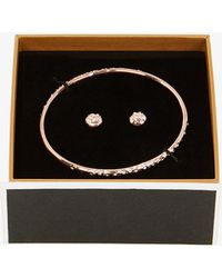 Karen Millen - Crystal Bangle & Earring Set - Lyst