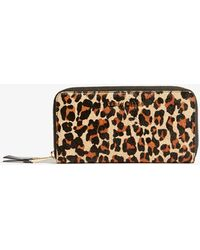 Karen Millen - Leopard Full-zip Purse - Lyst