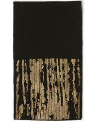 Karen Millen - Metallic Knitted Scarf - Black - Lyst