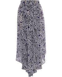 Karen Millen - Printed Drape Skirt - Lyst