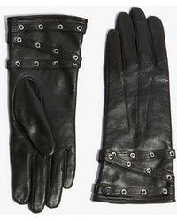 Karen Millen - Eyelet Detail Gloves - Lyst