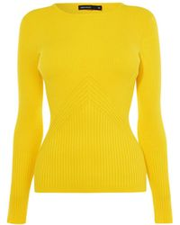 Karen Millen - Ribbed Fitted Top - Lyst