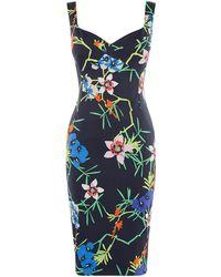 Karen Millen - Floral Pencil Dress - Lyst