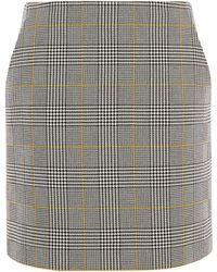 Karen Millen - Check Tailored Skirt - Lyst
