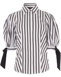 Karen Millen - Exaggerated Sleeve Shirt - Lyst