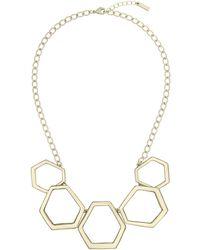 Karen Millen - Hexa Link Necklace - Lyst