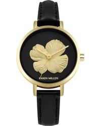Karen Millen - Floral Face Watch - Lyst
