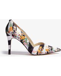139c8c0f983b Karen Millen - Striped Floral Stiletto Court Shoes - Lyst