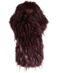Karen Millen - Oversized Faux Fur Stole - Pink/multi - Lyst