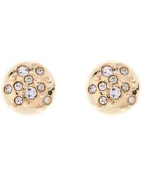 Karen Millen - Crystal Sprinkle Stud Earrings - Gold Colour - Lyst