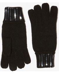 Karen Millen - Sequin Trim Gloves - Lyst