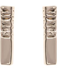 Karen Millen - Etched Stud Earrings - Lyst