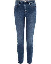 Karen Millen - Light-wash Skinny Jeans - Lyst