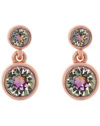 Karen Millen - Crystal Dot Earrings - Rose Gold - Lyst