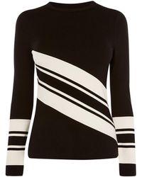 Karen Millen - Block Stripe Fitted Top - Lyst