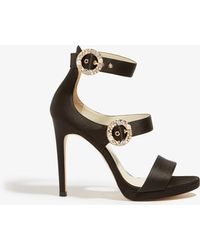 Karen Millen - Embellished Buckle Sandals - Lyst
