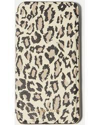 Karen Millen - Leopard Iphone Plus Folio Case - Lyst