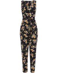 Karen Millen - Tailored Floral Jumpsuit - Lyst
