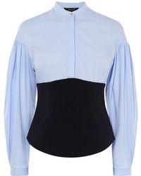 Karen Millen - Corset Balloon Sleeve Shirt - Lyst