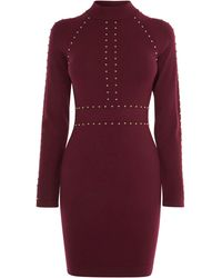 Karen Millen - Stud Embellished Bodycon Dress - Lyst