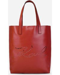 Karl Lagerfeld - K/signature Perforated Shopper - Lyst