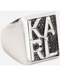 Karl Lagerfeld - Ring Karl Block - Lyst