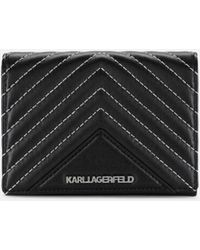 Karl Lagerfeld - K/klassik Quilted Leather Wallet - Lyst