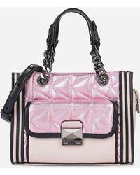 Karl Lagerfeld - K/kuilted Pink Mini Tote - Lyst