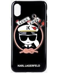Karl Sailor Black TPU case Karl Lagerfeld PrPSztYge