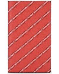 Karl Lagerfeld - K/stripe Logo Travel Wallet - Lyst