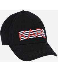 Karl Lagerfeld - K/stripes Embroidered Cap - Lyst